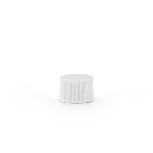 20-400 White Plastic Screw Top Cap with Liner