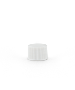 20-400 White Plastic Screw Top Cap with Liner