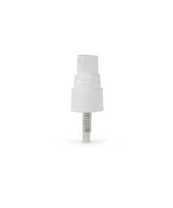 White PP 20-410 Ribbed Skirt Fine Mist Fingertip Sprayer with 90mm Dip Tube Clear Overcap