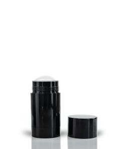70g Black Twist Up Deodorant Tube with Black Screw Cap and Disc