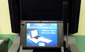 The new electronic ballot reader in New York City - Photo: Ewa Kern-Jedrychowska