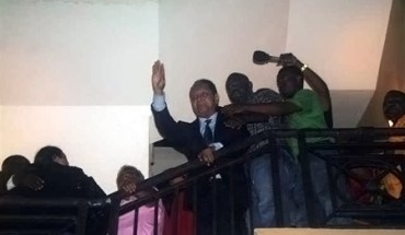 """François Duvalier, or """"Baby Doc,"""" the former president of Haiti, greeted people at his hotel upon his return to Haiti"""