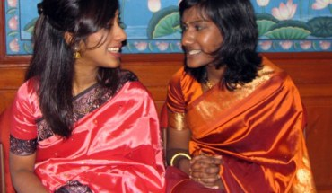 The author (right) and her sister