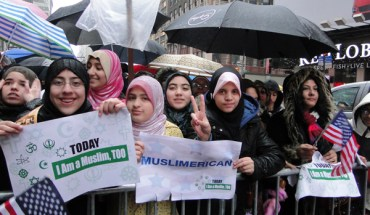 """A coalition of interfaith organizations called """"Today I Am a Muslim Too"""" rallied against the upcoming Congressional hearings on the radicalization of American Muslims"""