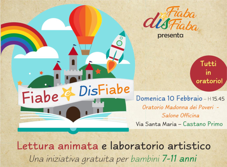 Locandina evento di presentazione raccolta Fiabe e DisFiabe presso Oratorio di Castano