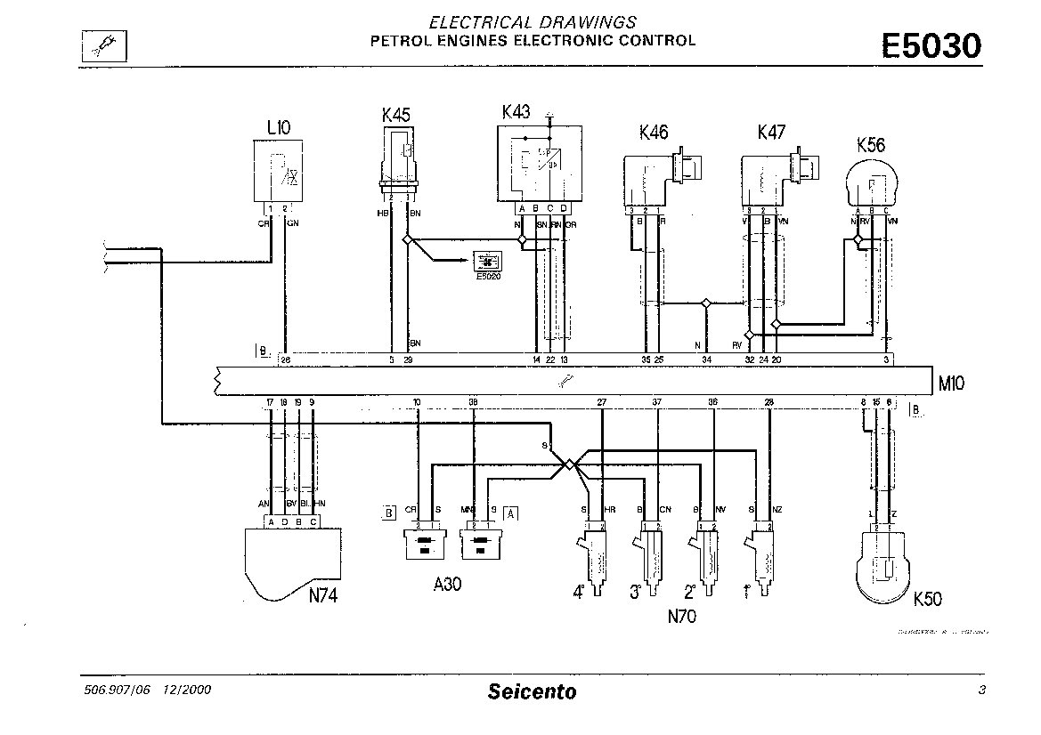 1975 fiat wiring diagram color