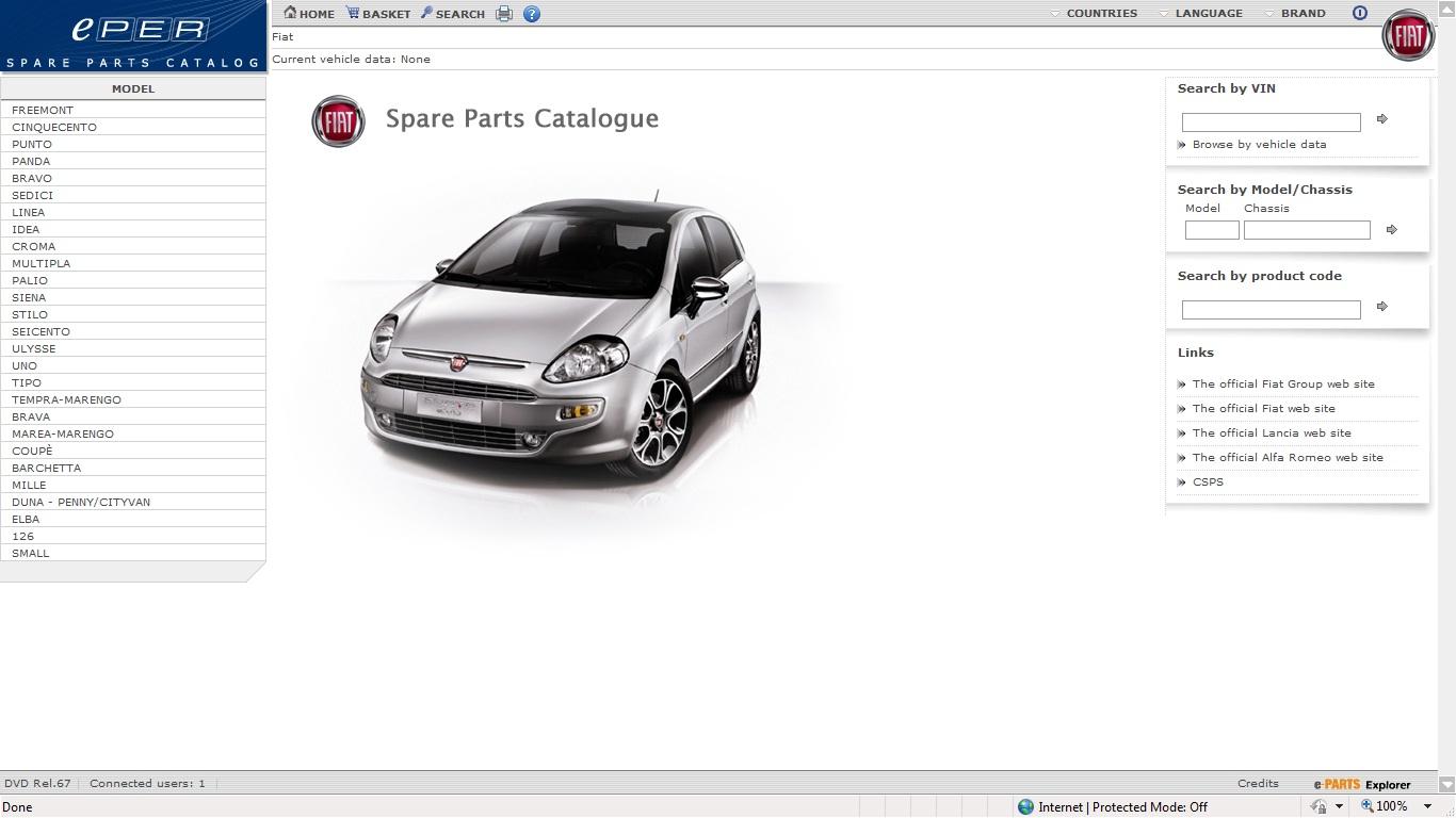 Fiat Online Parts Catalog