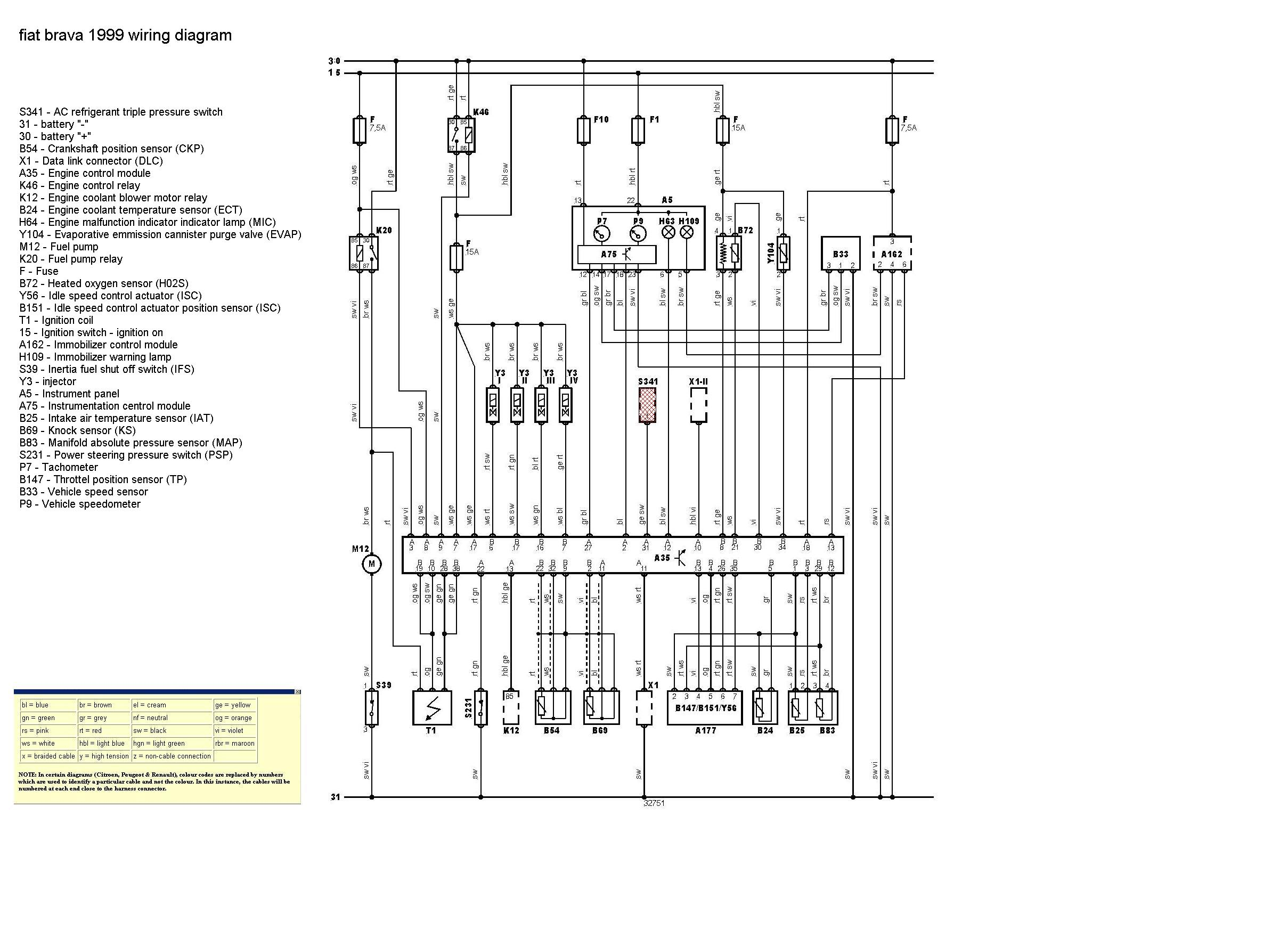 fiat punto electric window wiring diagram