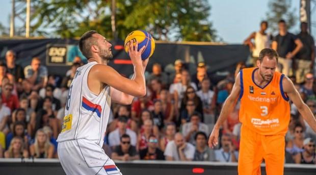8 Dejan Majstorovic (SRB), 3 Jesper Jobse (NED), Final game between Serbia and Netherlands