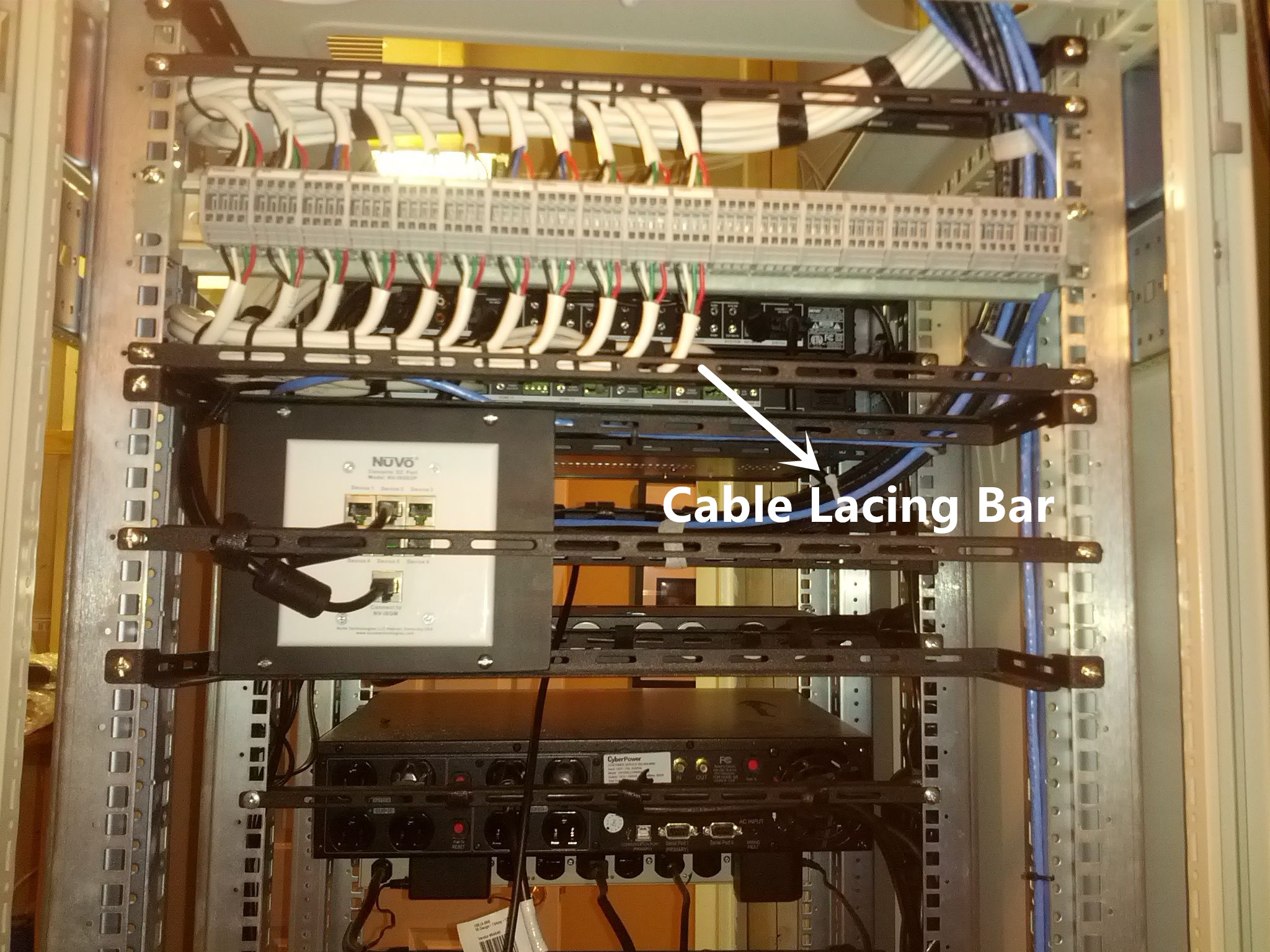 cable lacing bars