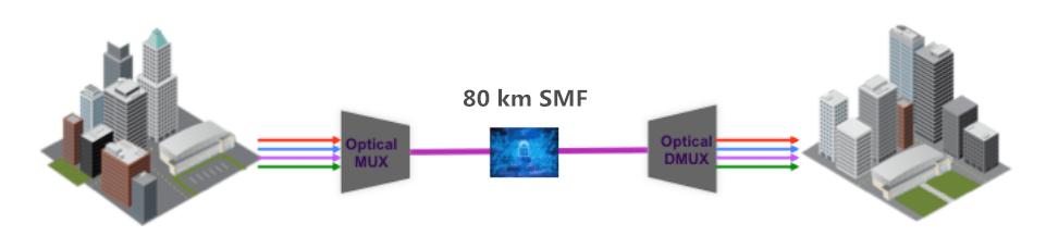 DWDM solution for 80 km