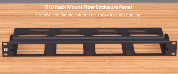1U rack mount modular fiber enclosure panel