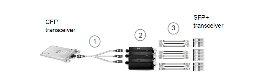 20-fiber to 2-fiber interconnect