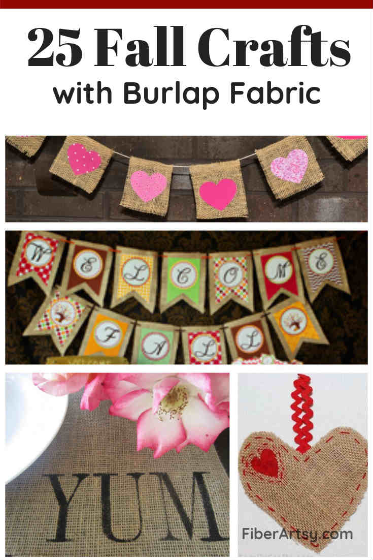 25 Fall Crafts you can make with Burlap Ribbon or Burlap Fabric