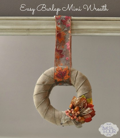 Mini Burlap Wreath for Fall