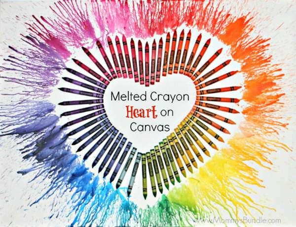 Valentine Heart made from Melted Crayons