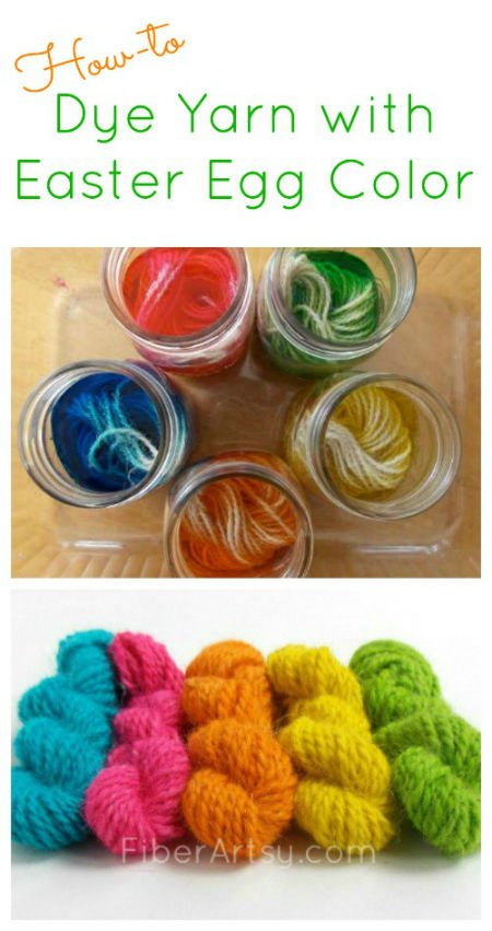 How to Dye Yarn with Easter Egg Color, FiberArtsy.com
