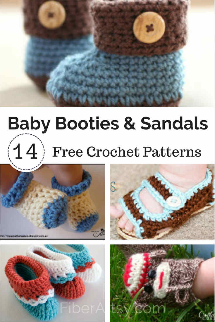 Free Crochet Patterns for Baby Booties and Sandals