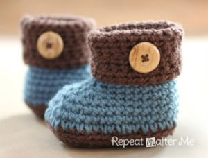 Baby Boots with Cuffs for Crochet