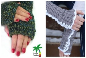 14 Knit and Crochet Fingerless Gloves Patterns