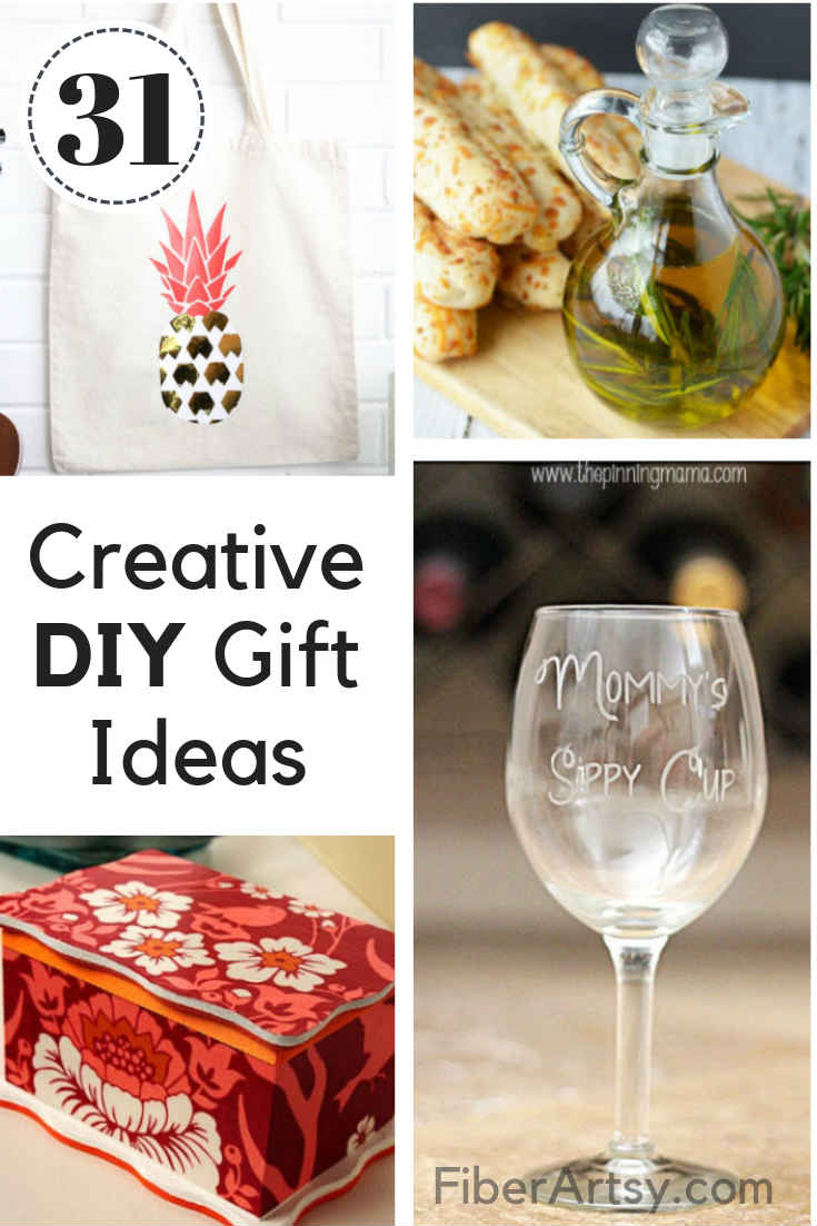 Creative Homemade Gifts. 31 Creative DIY Christmas Gift or Birthday Present Ideas that anyone can make.