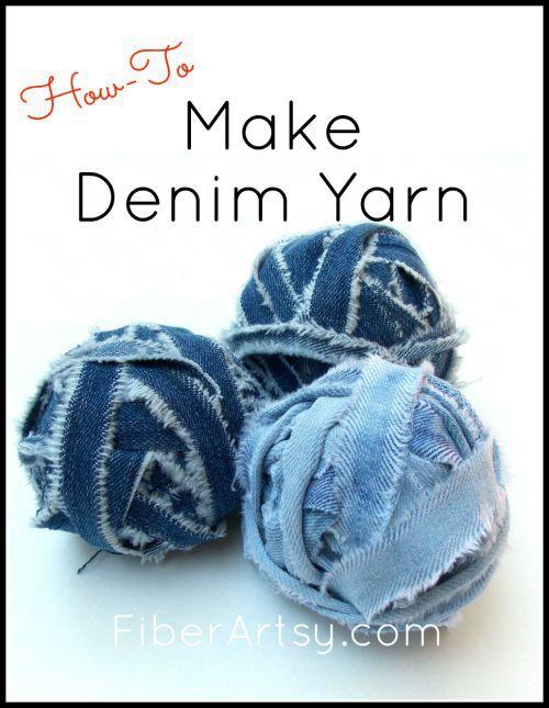 Make denim yarn from jeans, Fiberartsy.com