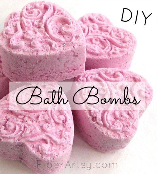 DIY Bath Bombs, A FiberArtsy.com tutorial