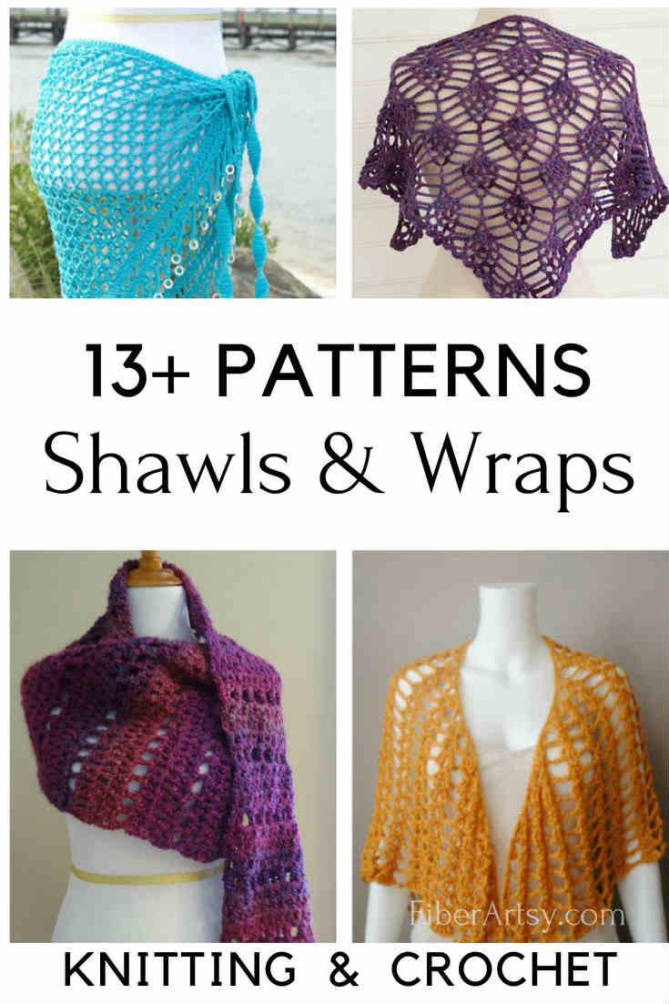Free Crochet Shawl Patterns and Shawl Knitting Patterns