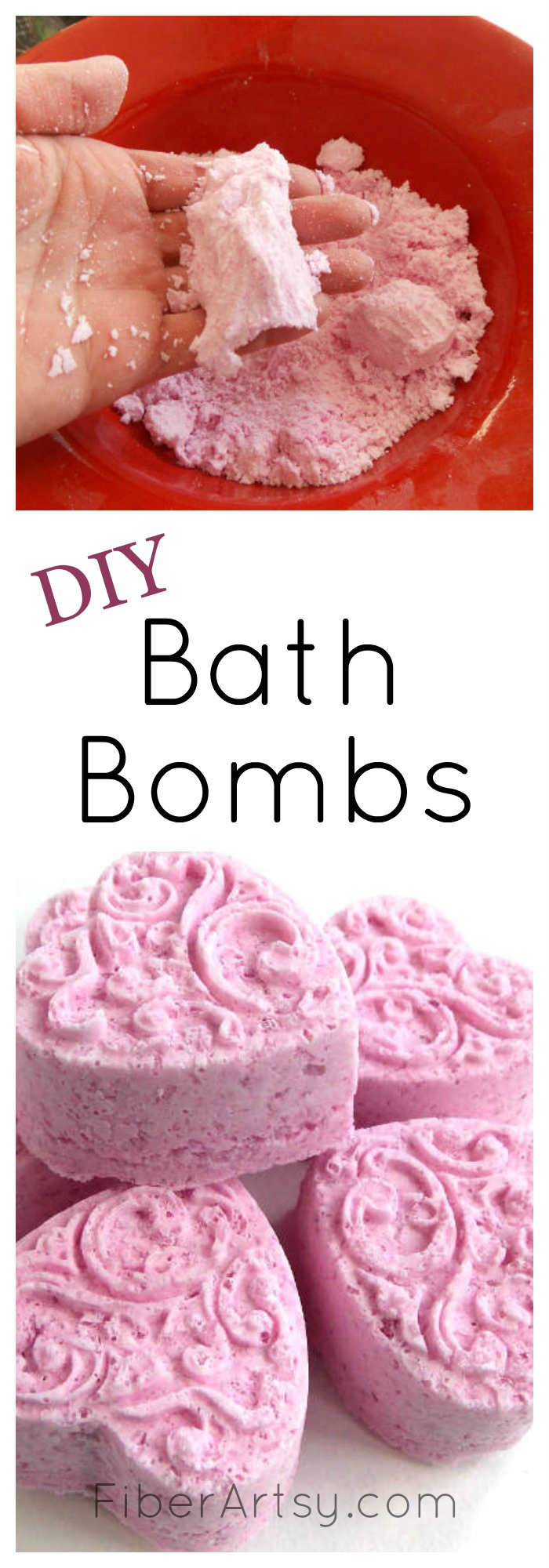 DIY Bath Bomb Recipe, FiberArtsy.com tutorial