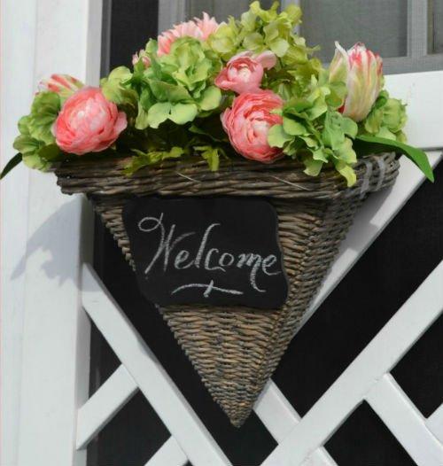 DIY Spring Flower Wreaths for your door, Fiberartsy.com