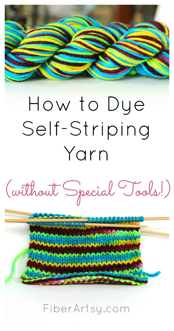 How to dye self striping yarn FiberArtsy.com tutorial
