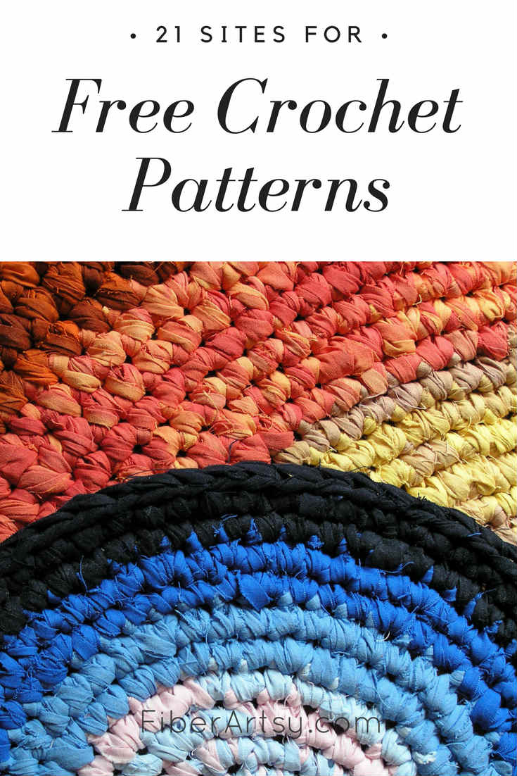 FiberArtsy.com A listing of my favorite websites for free crochet patterns. These sites share everything from crochet sweaters, baby hats and shawls to jewelry.