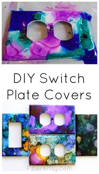 DIY Switch Plate Covers, FiberArtsy.com