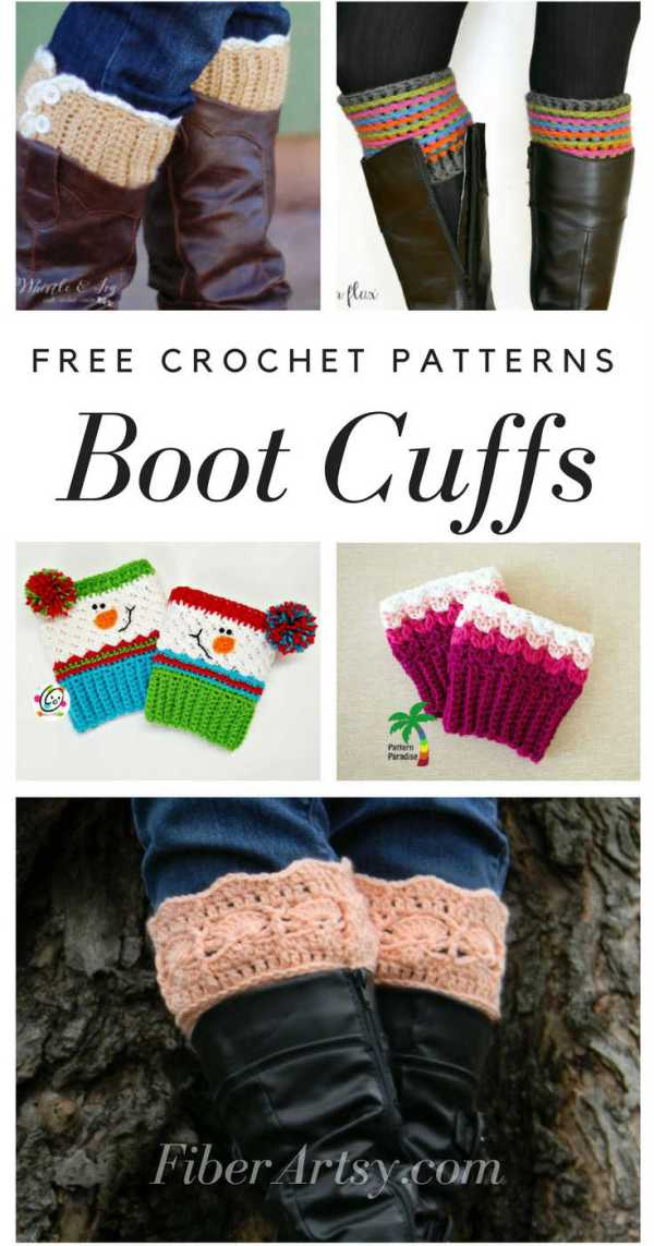 Free Boot Cuff Patterns for Crochet by FiberArtsy.com. You can find lots of free patterns for crochet and knitting at FiberArtsy