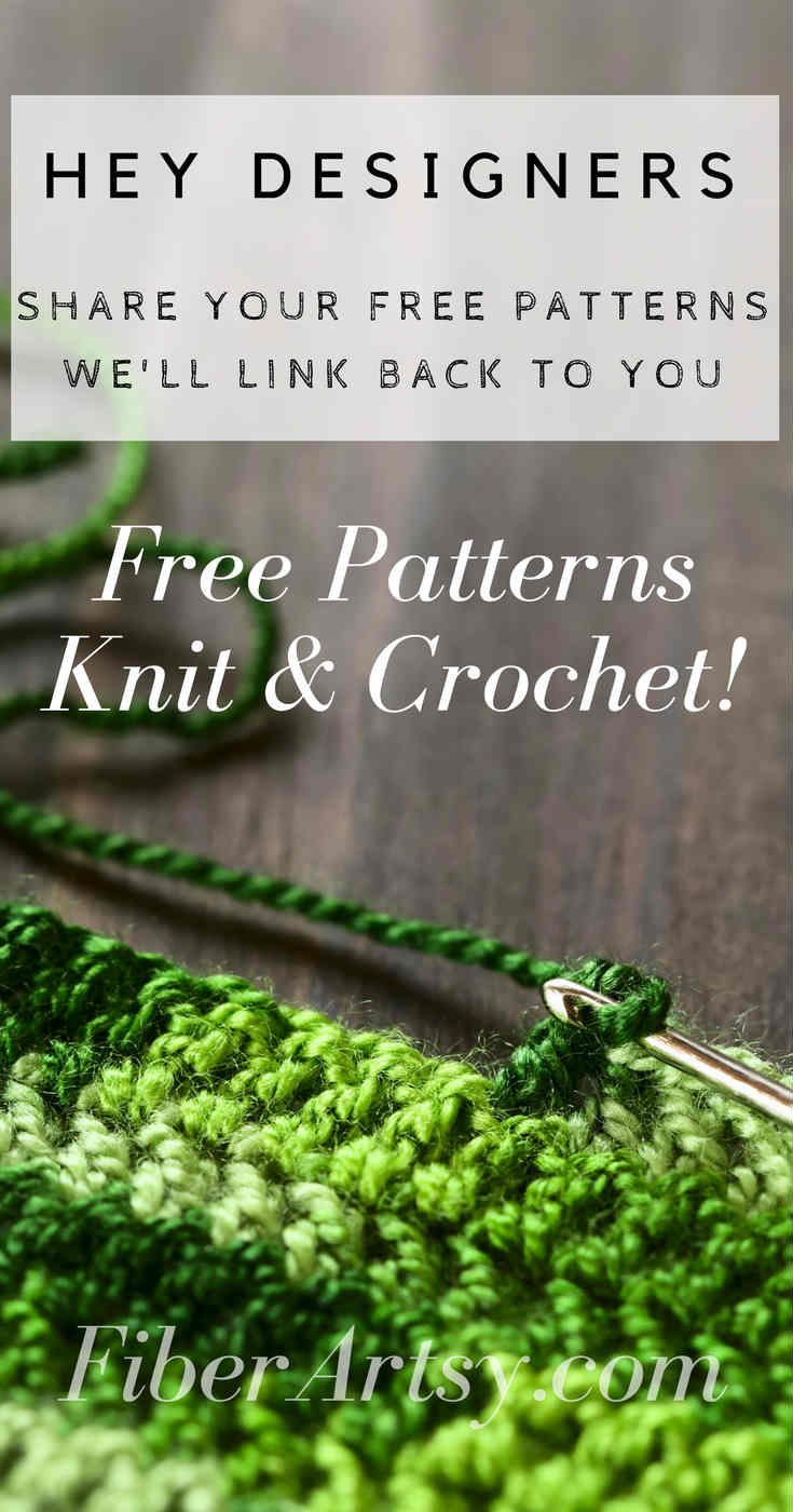 Submit Free Knit or Crochet Pattern on FiberArtsy.com