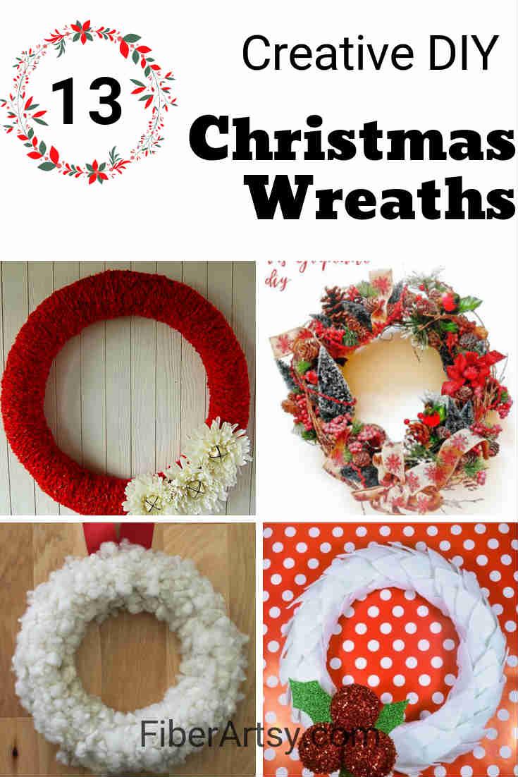 Creative DIY Homemade Christmas or Holiday Wreaths