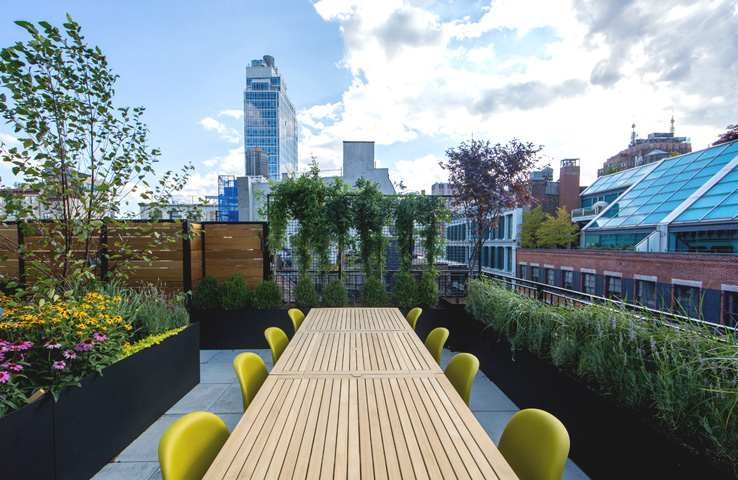 picture of rooftop planters