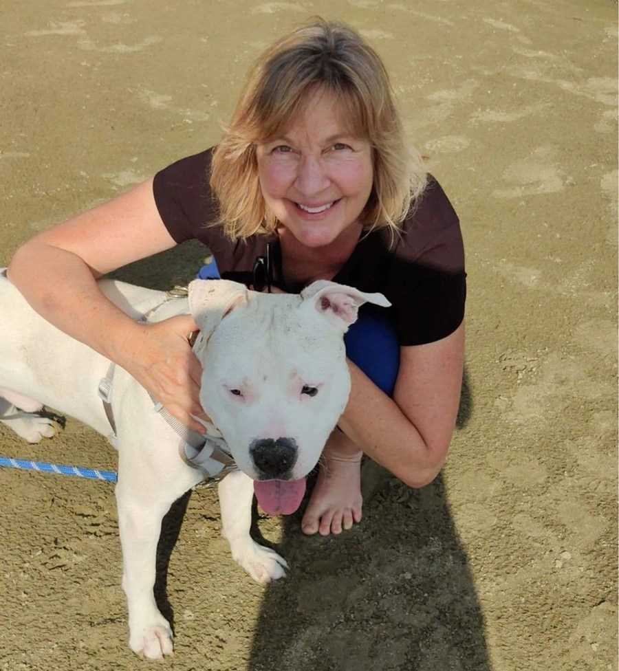 Marjorie Ray and Bowser the dog