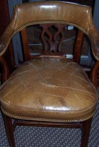 Badly cracked chair