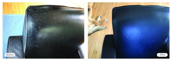 leather seat re-dye