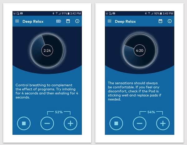 Thync Relax app screenshots