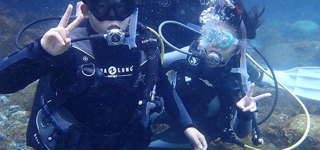体験ダイビングは伊豆大島