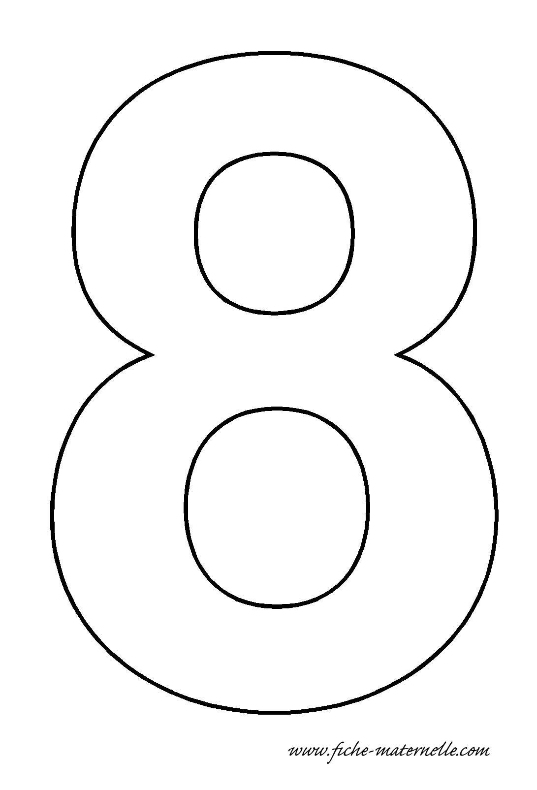 Big Number 8 Sheet Coloring Pages