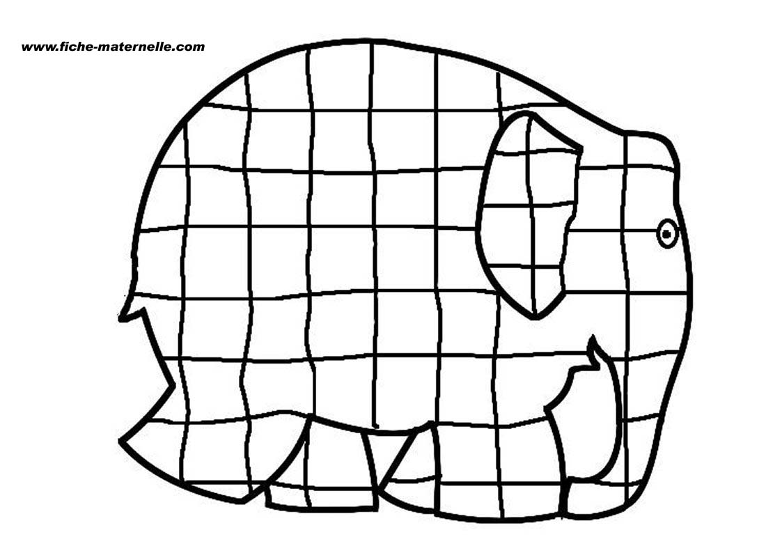 elmer activatys colouring pages