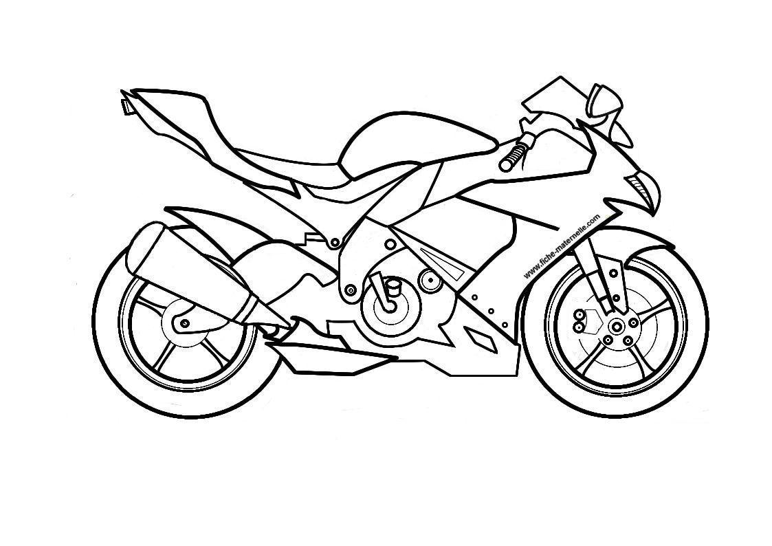 Moto A Colorier