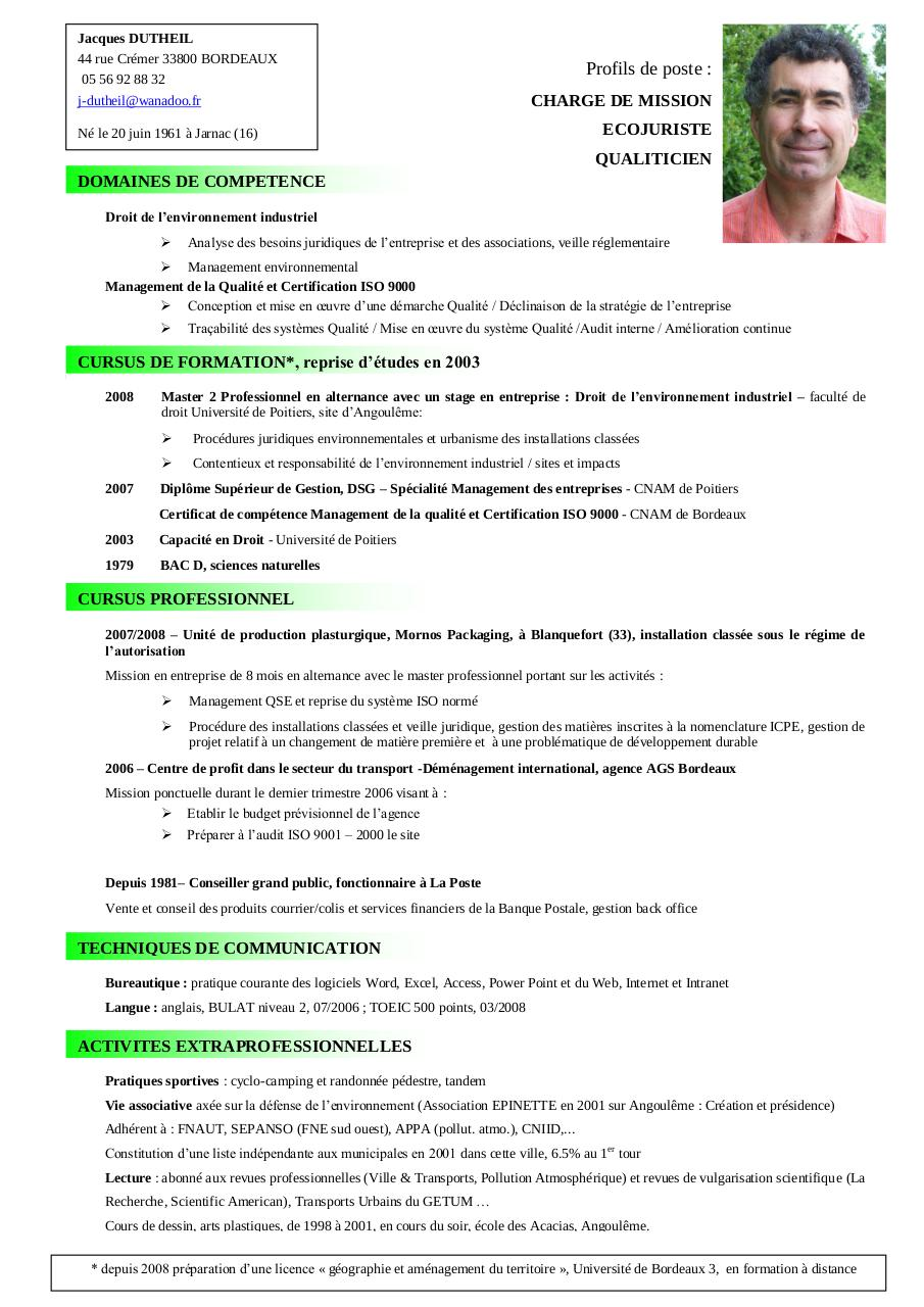 American Style Resume Format. Us Resume Format Curriculum Vitae