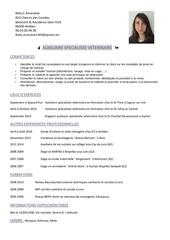 Cv Auxiliaire Veterinaire Photo Word Par Cathy Fichier Pdf