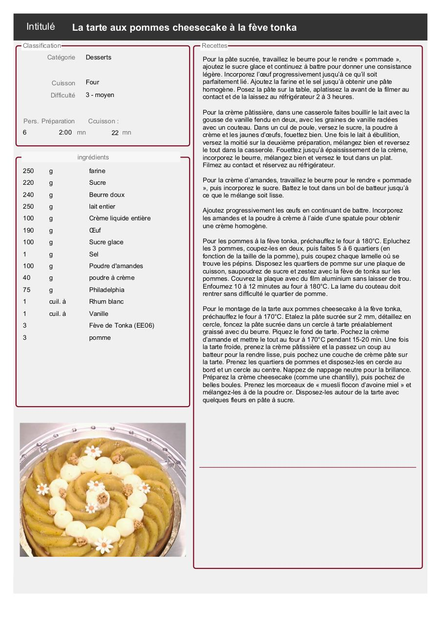 feve de tonka recette fichier pdf