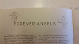 "Cover ""art"" for ""Forever Angels"" (not much to enjoy here, but better than nothing I suppose)"