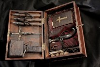 Vampire Kit. Not a movie prop. People actually made these things.